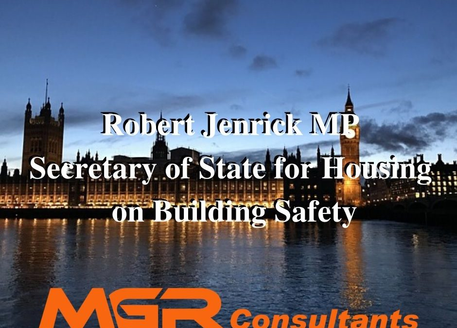 Robert Jenrick MP – The new Secretary of State for Housing's speech on building safety